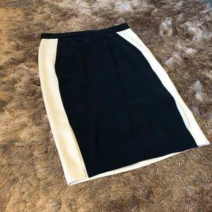 J. Crew Blue and White Color block Career Skirt